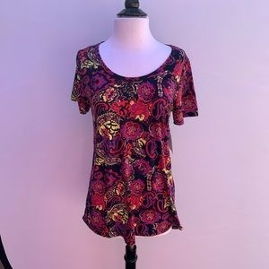 LULAROE Paisley Scoop Neck Top Size XS